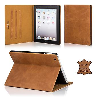 32a premium Folio custodia per Apple iPad 2 aria (iPad 6) - Tan