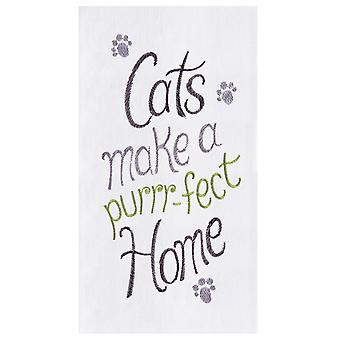 Katter gör en kattras hem mjöl säck kök handduk Bomull 27 tum