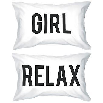 太字の文枕 300 スレッドカウント標準サイズ 21 × 30 - 女の子のリラックスします。