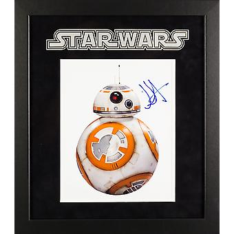 Star Wars - Signed BB-8 The Force Awakens Photo - Framed Artist Series
