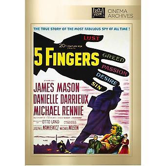 Vijf vingers [DVD] USA importeren