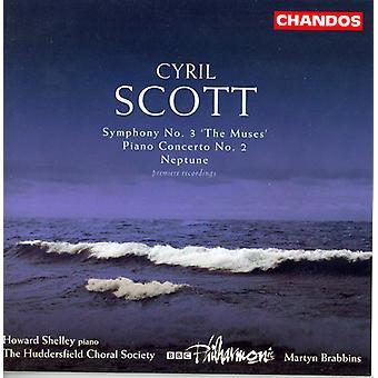 C. Scott - Cyril Scott: Sinfonía No. 3 las Musas; Concierto para piano n º 2; Importación de USA de Neptuno [CD]