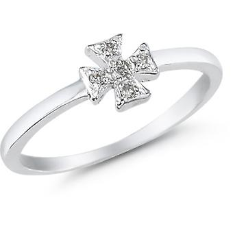 Maltese Cross Diamond Ring