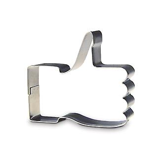 Biscuit cookie cutter thumbs up like cookie cutter like symbol