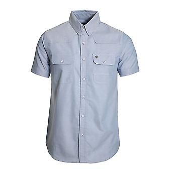 VOI JEANS BURKE COTTON CHAMBRAY SHIRT