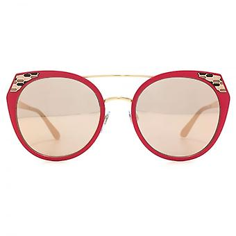 Bvlgari Serpenteyes Snake Detail Cateye Sunglasses In Demi Matte Pink