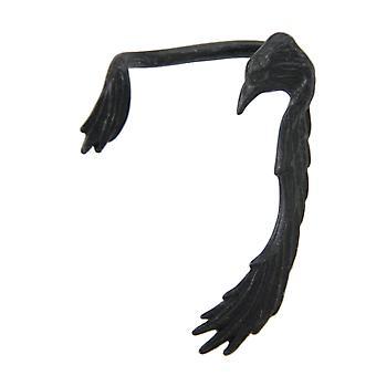 Gothic Raven Black Pewter Ear Wrap