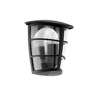 Eglo ALORIA Black Lantern Wall Light