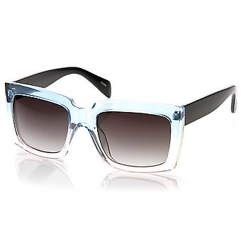 Large Bold Square Oversized Translucent Two-Tone Jelly Sunglasses