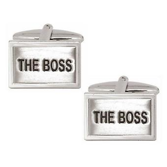 Zennor The Boss Cufflinks - Silver/Black