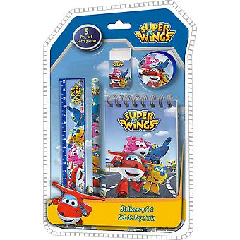 Kids Euroswan Blister 5 Pieces Stationery Clamshell 3D Super Wings