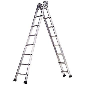 AFT Aluminum Industrial ladder Pronor 2 flights 10 + 10 Steps