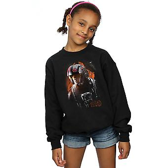 Star Wars Girls The Last Jedi Poe Dameron Brushed Sweatshirt