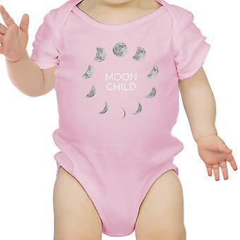 Mond Kind rosa Mädchen Body niedliche Grafik Infant Bodysuit Babygeschenke