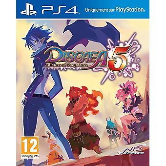 تحالف ديسجايا 5 من الانتقام لعبة PS4