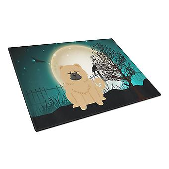 Halloween effrayant Chow Chow crème verre planche grand