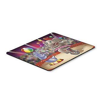 Circus Elephand and Dolphin Mouse Pad, Hot Pad or Trivet