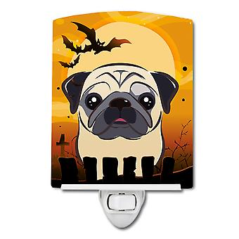 Carolines Treasures  BB1820CNL Halloween Fawn Pug Ceramic Night Light