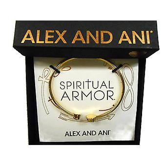 Alex and Ani Lotus Peace Petals Cuff Bracelet 14Kt Gold Plated - PC17CF02G