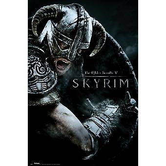 Skyrim - attaque affiche Poster Print