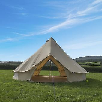 Boutique Camping 5m Sandstone Bell Tent With Zipped In Ground Sheet - Double Door
