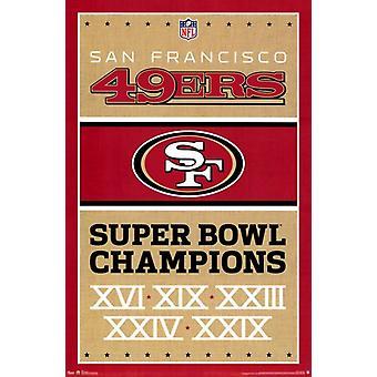 49ers de San Francisco - Champions 13 affiche Poster Print