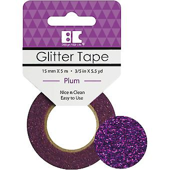 Best Creation Glitter Tape 15mmX5m-Plum GTS-014