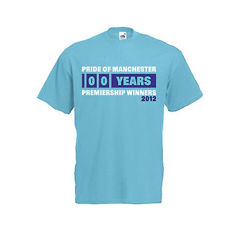 2012 Manchester City Premiership vincitori t-shirt (Blue)
