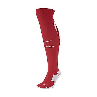 2017-2018 Atletico Madrid Nike Home calcetines (rojo)