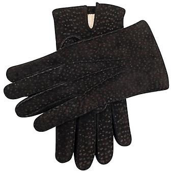 Dents Exton Cashmere Lined Carpincho Leather Gloves - Black
