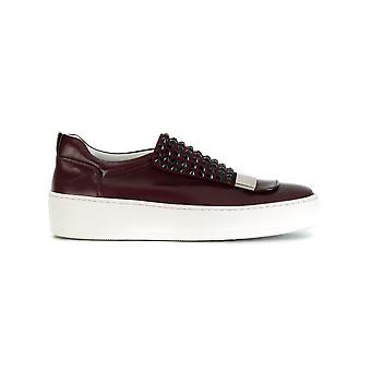 Sergio Rossi women A79290MFN2536127 Burgundy leather slip on sneakers