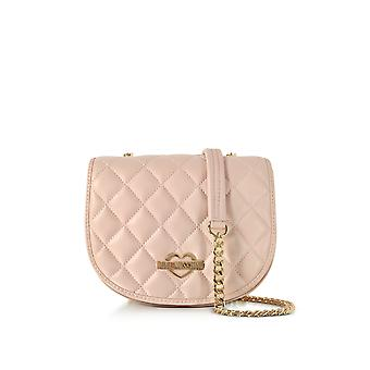 Love Moschino ladies JC4017PP15LB0600 pink faux leather shoulder bag