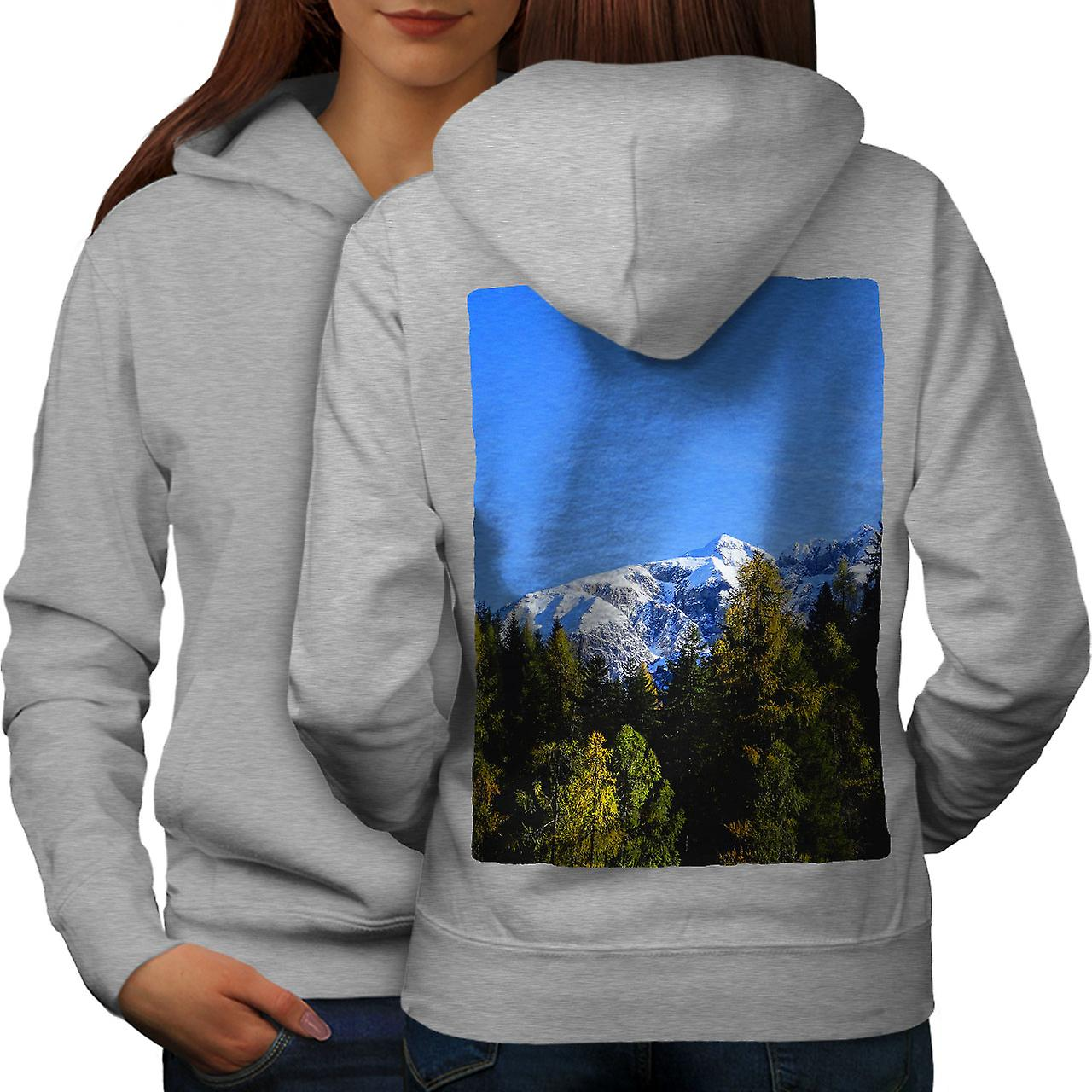 Snowy Mountain Nature femmes grisHoodie dos