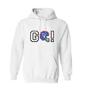GO! NY Graphic Helmet Men's White Hoodie