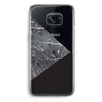 Samsung Galaxy S7 Transparent Grenzfall - Marmor-Kombination