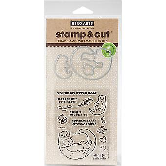 Hero Arts Stamp & Cut-Otter Family HA-DC223
