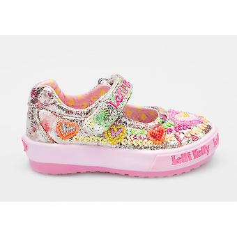Lelli Kelly Mila LK5010 Toddler Girls Canvas Shoes With Beaded Heart Design