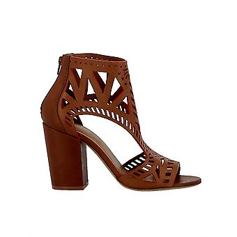 Elena Iachi women's A3694RED brown leather sandals