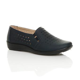 Ajvani Women 's flat grep eneste polstret komfort sko strekke arbeid polstret loafers
