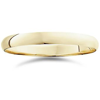 3mm Dome High Polished Wedding Band 14K Yellow Gold