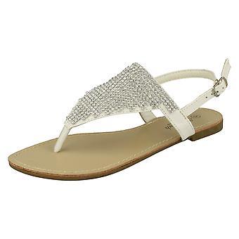 Ladies Savannah Toe Post Diamante Sandals F0827