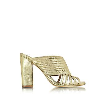 Tory Burch women's 33942701O gold leather sandals