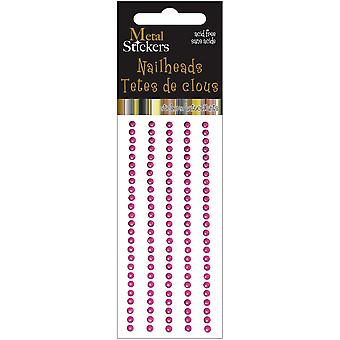 Metal Stickers Nailheads 3Mm Round 125 Pkg Hot Pink 38Ms3mm 3869