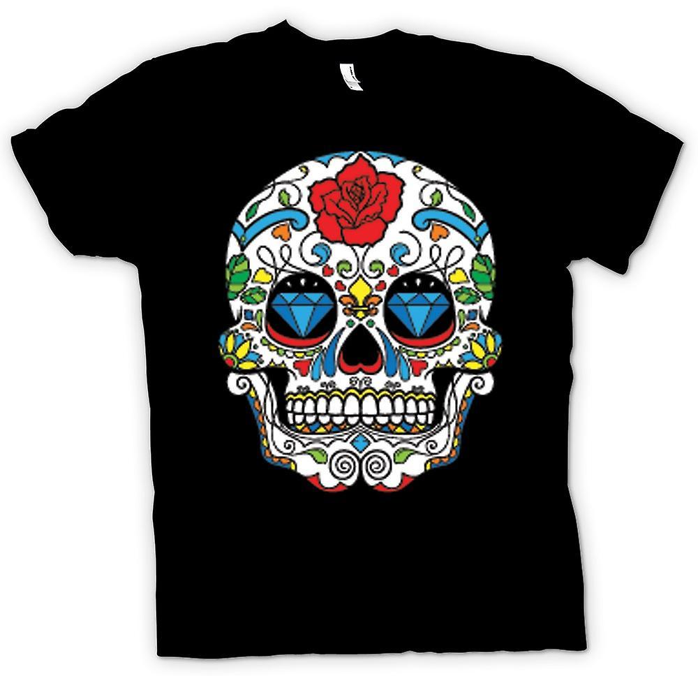 T-shirt - cranio messicano dello zucchero - Dia De Los Muertos