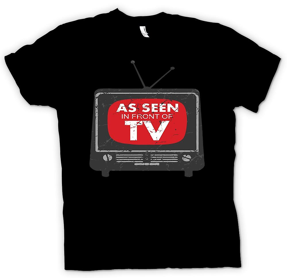 Herr T-shirt - som sett framför TV - Funny