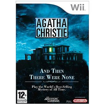 Agatha Christie - en dan waren er geen (Wii)