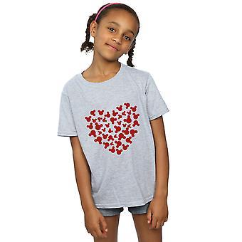 Disney Микки Маус сердце девушки Силуэт футболку