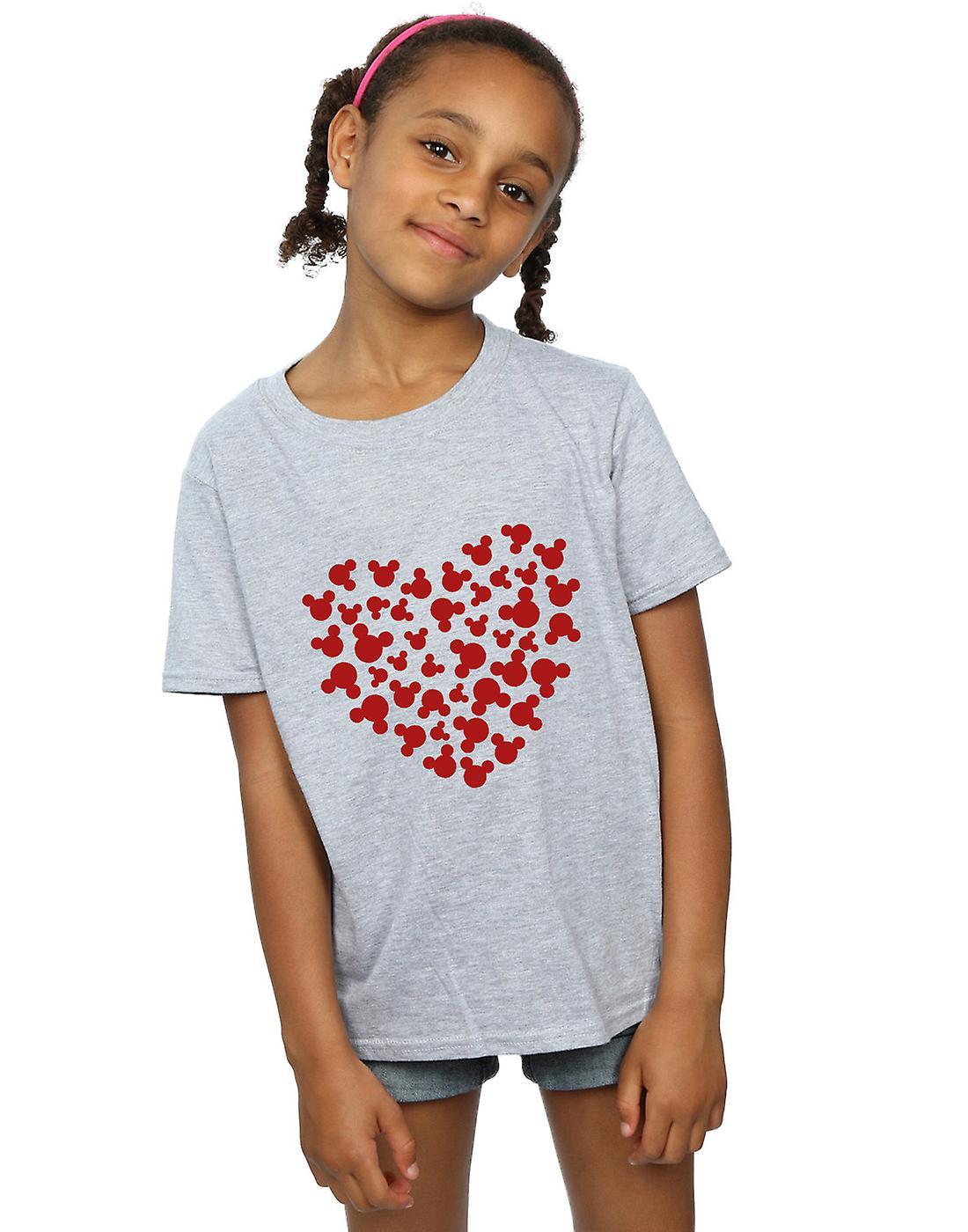 Disney meisjes Mickey Mouse hart Silhouette T-Shirt