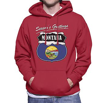 Seasons Greetings Montana Men's Hooded Sweatshirt