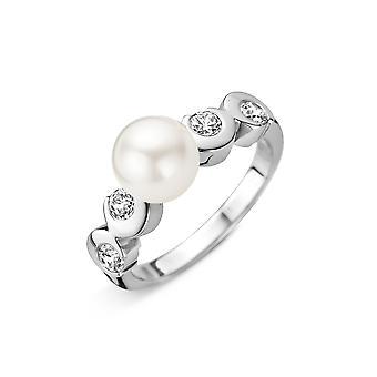 Orphelia Silver 925 Ring White Pearl  Zirconium 99  ZR-3795